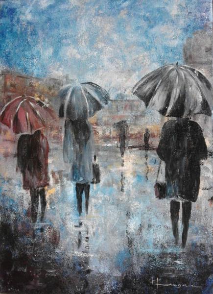 scène de pluie (50X70)