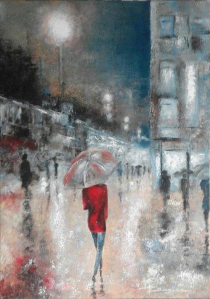 un soir de pluie (50X70)