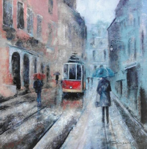 Le tramway rouge (80X80)