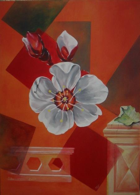 fleur d'amandier (55 X 92)