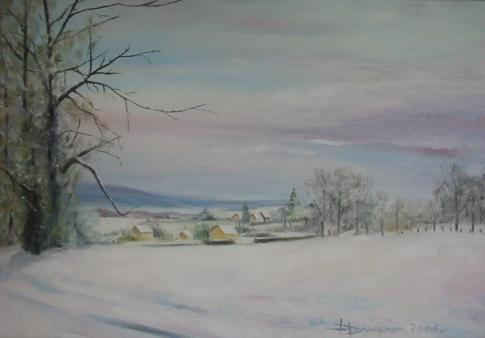 paysage hivernal  (55X38)