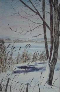 l'hiver (20X30)   aquarelle