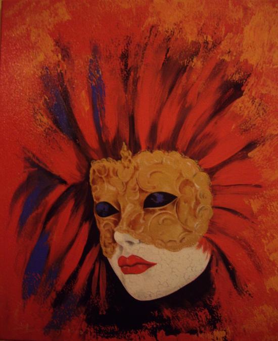 le masque or (46X55)