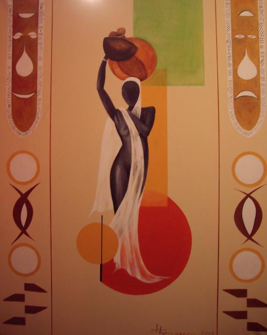 Scène d'afrique (70X90)