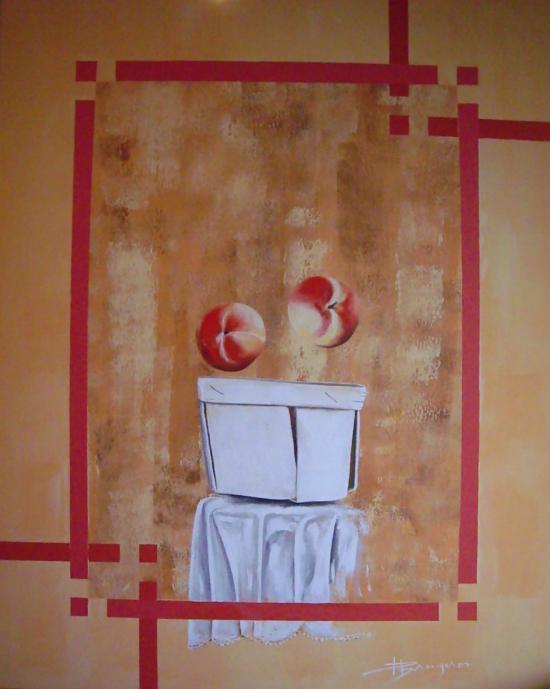 les deux pommes (72X92)