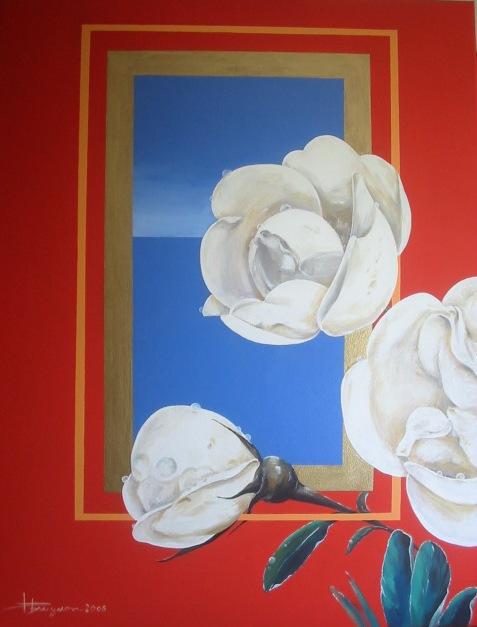 fleurs blanches (88X115)
