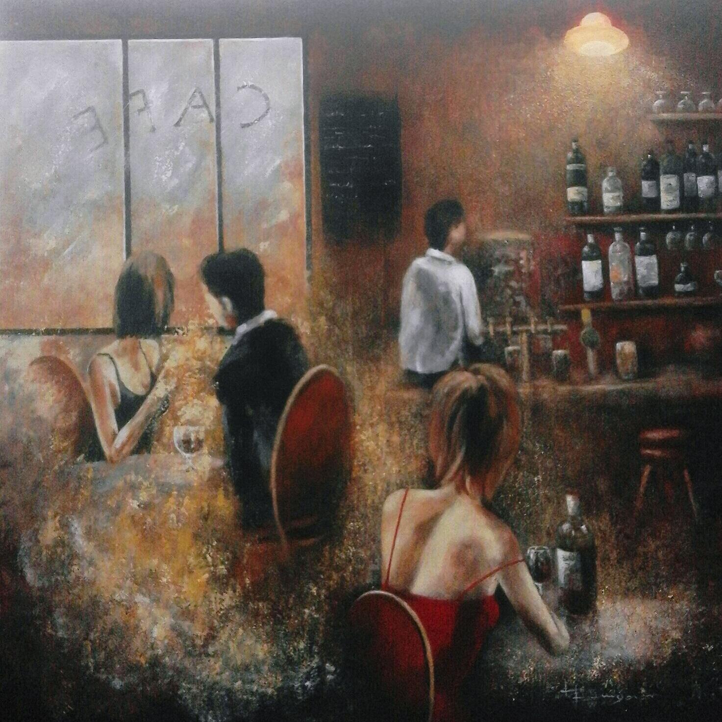 Scène de bar