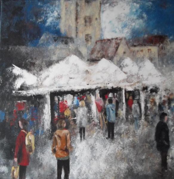 """Un jour à """"Héricourt-Montmartre"""" (60X60)"""