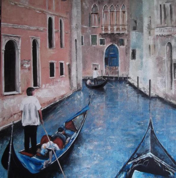 Promenade à Venise  (80X80)