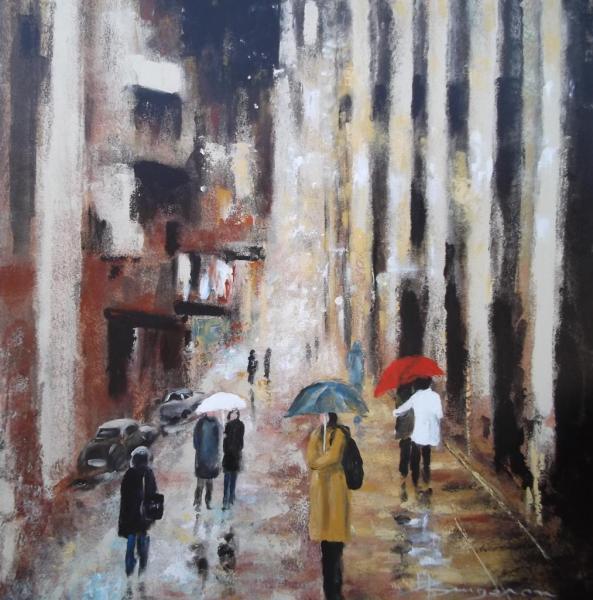 soir de pluie (80X80)
