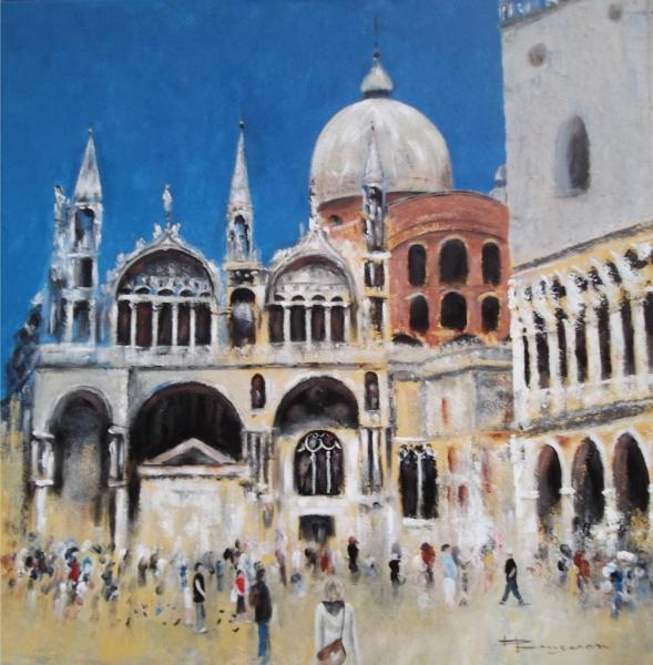 "Venise  ""place Saint Marc""  80X80"