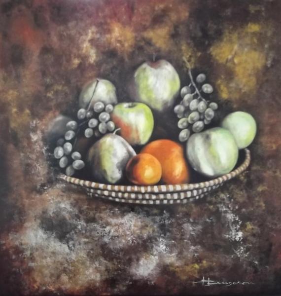 nature morte aux fruits (80X80)
