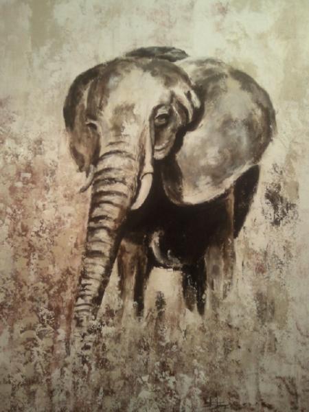 éléphant (90X70)