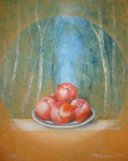 nature morte aux pommes (90X70)