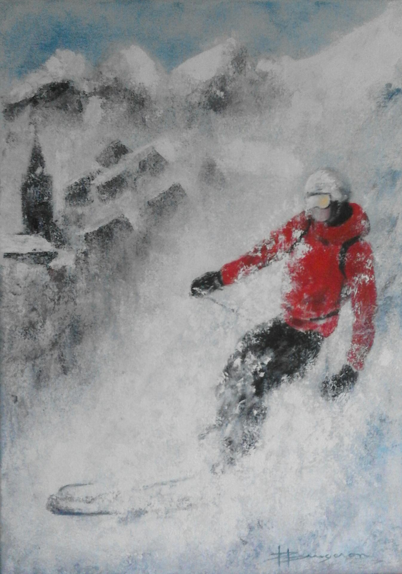 skieur (50 X 70)